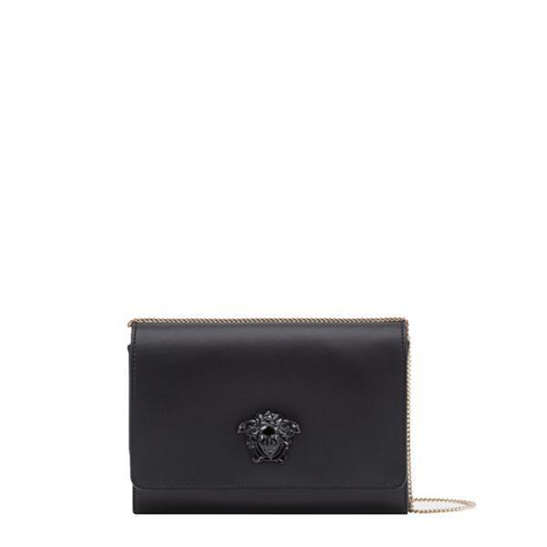 107a070dd0a2 Home   WOMEN   BAGS   VERSACE CLUTCH.  Versace Palazzo Large Clutch BlackBlack